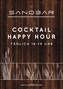 290315_Sandbar_Plakat Happy Hour_Holz